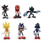 Sonic The Hedgehog Knuckles Shadow 6PCS Action Figure Cake Topper Kids Gift Toy