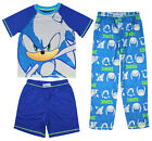 Kyпить Sonic The Hedgehog Boys' Pajamas 3 Piece Sleepwear Loungewear Pajama Set на еВаy.соm