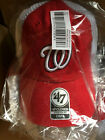 Washington Nationals MLB Blue Hill Closer Cap Hat Red & White Mesh Baseball W DC