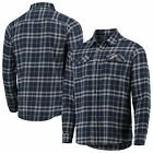 Boston Red Sox Antigua Flannel Button-Up Shirt - Navy/Gray on Ebay