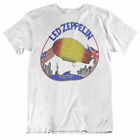1975 Led Zeppelin North American Tour White T-Shirt for Mens S-234XL S598 image