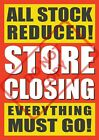 CLOSING DOWN SALE POSTERS - WINDOW SIGN BANNER - CHOOSE SIZE - FREE UK P&P