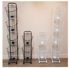 4 Basket Rolling Laundry Wheel Steel Hamper - Black White Color - Laundry Hamper