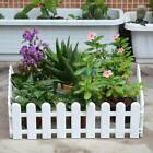 White Plastic With Wooden Effect Picket Fencing Lawn Garden Edge Border Set Uk