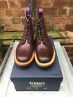 Trickers Brogue Boot In Purple With A Commando Sole SALE