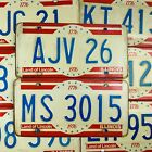 Vintage 1976 License Plates with Bicentennial Design For Arts and Crafts Project