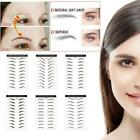 9/10Pairs Eyebrow Sticker Grooming Brow Sticker Tattoo False Eyebrows Waterproof $2.2 USD on eBay