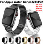 For A pple Watch Series 5/4/3/2 Stainless Steel Wrist Band iWatch Strap 38-44mm image