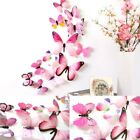 12pcs Mag 3d Butterfly Decal Wall Stickers Home Diy Art Decor Children Room J