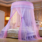 Romantic Lace Mosquito Net Round Dome Mesh Bed Canopy Bedding Netting Bedcover image