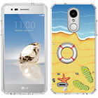 for LG Tribute Dynasty/Empire(Clear) Slim Flexible TPU Skin Phone Case Cover-D3
