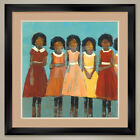 """32W""""x32H"""": THE DANCE by REBECCA KINKEAD - DOUBLE MATTE, GLASS and FRAME"""