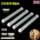 72 Led Car Interior Strip Lights Bar Lamp Car Van Boat Caravan Home 12v 12 Volt
