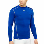 Under Armour UA ColdGear Crew Mens Blue Long Sleeved Base Layer Compression Top