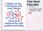 Sanitized Vehicle Poly Back Floor Mats - Box Of 500 - #1245