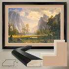 "44Wx32H"": LOOKING UP THE YOSEMITE by A BIERSTADT - DOUBLE MATTE, GLASS and FRAME"