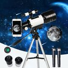 New 70mm 300mm Terrestrial Astronomical Telescope Refractive Finderscope Tripod image
