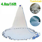 8ft/12ft/16ft Saltwater Fishing Cast Net For Bait Trap Height Easy Throw Sink US