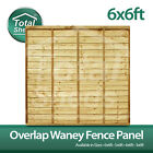 ***PACK OF 5*** 6ft x 6ft OVERLAP WANEY LARCH LAP PANELS