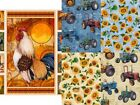 SUNRISE FARMS range by Quilting Treasures tractors 100% cotton patchwork fabric