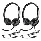 2X MPOW Noise Reduction Headset With Mic Hifi Sound Stereo Earphone For iPhone
