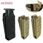 Tactical Molle Single Pistol Mag Pouch Open Top Elastic Pouch Tool Holster
