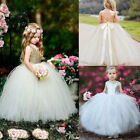 Toddler Kids Princess Girl Party Sequins Tulle Gown Pageant Wedding Formal Dress