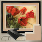 """40W""""x32H"""": GARDEN IN HOLLAND I by IGOR LEVASHOV - DOUBLE MATTE, GLASS and FRAME"""