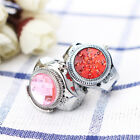 Fashion Women Jewelry Round Finger Ring Watch Stone Steel Elastic Lady Girl  ! image