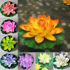 18cm Artificial Lotus Floating Water Lily Flowers Plants Home Decors Ponyjus