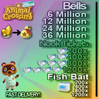 FixedPricenook miles tickets + bells, fish bait fast delivery !