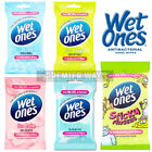WET ONES ANTI-BAC HAND BODY FACE TRAVEL WIPES ALOE - ALCOHOL FREE