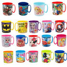 New Design Kids Character Licence Mug 350ML Drinking Plastic Cup Microwave Safe