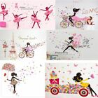 New Angel Flower Girl Butterfly Flower Fairy Wall Stickers for Room Decoration