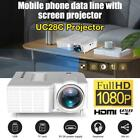 New 1080P Portable Video Projector Home Theater Cinema Office For Smart Phones
