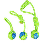 Dental Care Dog Pet Chew Bite Toy Teeth Ball Rope Interactive Training Teether