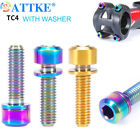 with Washer Fixed Bolt Bicycle Stems Screws Stem Fixing Bolts Bike Parts