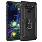 For LG Stylo 5 6 Phone Case, Ring Kickstand Shockproof Cover + Screen Protector