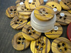 Buttons, Holz-Töne, Sew, Haberdashery, Accessory, 90-er Years