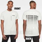 NWT Men's G-Star Raw Multi Logo Pocket GR T-Shirt Tee Cool Grey 100% Cotton image