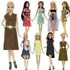 Fashion Lady Daily Outfits Dress + Shoes Sandals Summer Clothes for 12 in. Doll