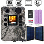 Hunting Trail Camera 18MP Infrared no glow Game Cam Video/Audio Solar charging