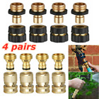 3/4' Garden Hose Quick Connect Water Hose Fit Brass Female Male Connector Set Us