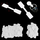 50/100Pcs Blank price tags necklace ring jewelry labels paper stickeESHH