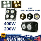 LED Audience Stage Par Light COB 2in1 Cool/Warm White Blinder Anti Glare DJ Lamp