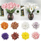 10pcs Artificial Pu Real Touch Calla Lily Flower Wedding Party Home Decor Art