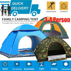 Tents Camping Pop Up 3-4 Man Family Camping Beach Hiking Automatic Waterproof