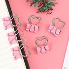 1pcs Pink Clip Heart Hollow Out Metal Binder Clips Notes Letter Paper Clip_ushh