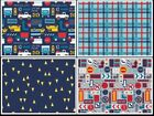 ON THE MOVE construction themed prints  100% cotton patchwork fabric