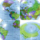 12/16 inches Inflatable Globe Map Ball World Earth Toy Atlas Geography J2Y7